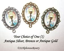 Holy Communion Chalice Rosary Center/Part/Supply /Choice of Silver/ Bronze/Gold