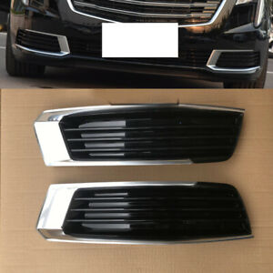 2X For Cadillac XTS 2018-2019 Front Left Right Fog Light Lamp Cover Frame Trims
