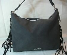NEW Kenneth Cole Reaction Women's Tote BLACK BAG With Fringes on the Sides.