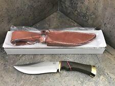 Bark River Marauder I Bowie Knife 16-151MGC Green Canvas Micarta Handle