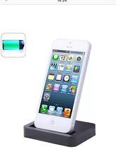 NUOVO Desktop Dock di ricarica stand Stazione Caricabatteria per Apple iPhone 5 5s 5c Nero