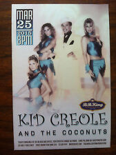 Kid Creole and the coconuts ad/flyer B.B. King club concert Eddie Palmieri Nyc