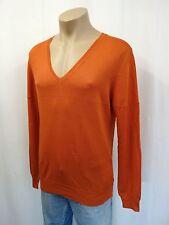 NEU PRADA Designer Pullover Gr.52 V-Ausschnitt Wolle mit Seide Orange 603