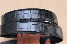 Luxury Unjointed Black Genuine Alligator Crocodile Belt SKIN Leather Men's