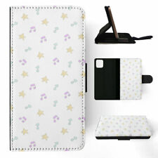 APPLE iPHONE FLIP LEATHER CASE WALLET COVER|MUSICAL NOTES PATTERN