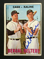 Al Kaline Tigers signed 1967 Topps baseball card #216 Bengal Belters auto
