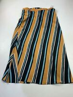 BNWT WOMENS ZARA MULTICOLOURED STRIPE CASUAL SUMMER LONG A LINE SKIRT SIZE EUR L
