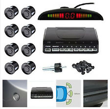 Car Wireless Reverse Radar Rear 8 Sensors Audio Alarm Sound Alert Alarm System