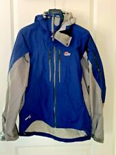 NEW RARE men's LOWE ALPINE ice light gore-tex waterproof jacket | small | blue