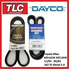 Dayco Fan Belt Kit (3 Belts) Hiluz KZN185R KZN165R 12/95-04/05 1KZ-TE Diesel
