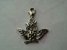 1 PC Tibetan Silver Owl clip on Charms