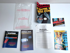 NES Nintendo ACTION SET POWER System Instructions Poster Inserts & Bag RARE