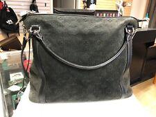 Louis Vuitton Suede Antheia Ixia MM Gray Monogram Handbag Shoulder Bag Purse