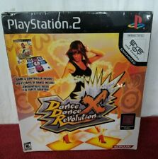 New Dance Dance Revolution DDR X PS2 Bundle, Mat Controller, Game & Instructions