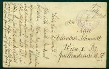 1916, Hungary Naval card, ship 'KAISER FRANZ JOSEF I', circular date cancel