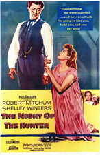 The Night Of The Hunter Movie Poster 11x17 Robert Mitchum Shelley Winters