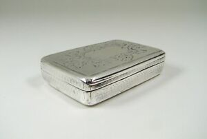 Antique Mid 19thC Linz Silver Austro Hungarian Snuff Box
