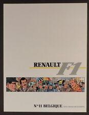 Graton Michel Vaillant pub Renault 11 Formule 1 Belgique Spa Francorchamps1989