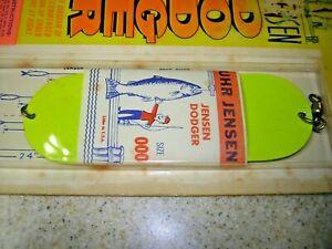 NOS Vintage Luhr Jensen Size 00 Dodger Flasher New Silver Mirror