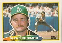 FREE SHIPPING-MINT-1988 Topps Big  #200 Glenn Hubbard ATHLETICS PLUS BONUS CARDS