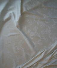 Nr. 2183 Edler Vorhangstoff Dekostoff Gardinen Barock Stoff creme / milch-weiß