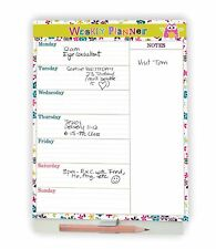 Weekly Planner Calendar 2018 Magnetic A5, 50 printed tear off pages 15 x 21cm