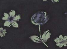 Black / Green Floral Georgette 115cm wide