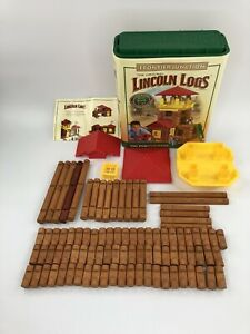 Lincoln Logs Frontier Junction 2006 Partial Set 94 Pieces Incomplete