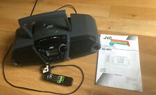 JVC CD PORTABLE SYSTEM WITH CASSETTE DECK AND RADIO TUNER - RC-QN1