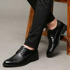 2019 Mens Dress Formal Shoes Lace Up Faux Leather Business Solid Casual Shoes
