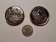 C-103 Widows Son Coin Masonic FreeMasonry Lodge Mason Gift Skull Memento Mori