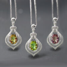 Oval 10*8mm color change sultanit diaspore 925 sterling silver pendant necklace