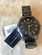New Emporio Armani AR1440 Black Ceramic Mens 43mm Watch