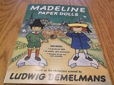 Madeline Paper Dolls, Ludwig Bemelmans Characters 1994 2 Dolls, 14 Outfits