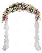 Wedding Arch Way Garden Quinceanera Party Flowers Balloon Decoration White Metal