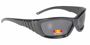 KICKSTART Viper Biker Sonnebrille grau getönt gepolstert und polarisiert NEU!