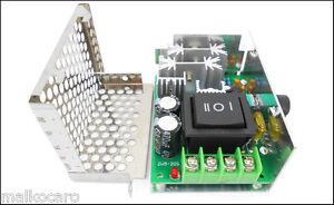 regolazione velocità motori regolatore speed control 10V - 60V 20A DC inversione