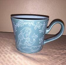 Disney Snow White With Bird Mug Cup Disney Store Teal