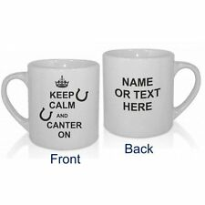 PERSONALISED KEEP CALM AND CANTER ON HORSE RIDING MUG GIFT