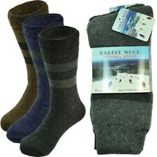 3 Pairs Mens Winter Heavy Duty Thermal Warm Rabbit Wool Crew Boots Socks 10-15