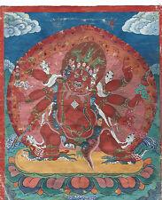 SUPERB LARGE ANTIQUE TIBETAN MONGOLIAN BUDDHIST TANTRIC THANGKA THANKA MONGOLIA