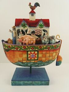 Jim Shore Noahs Ark Two by Two All Creatures of Faith 4007054 Enesco 2006