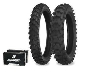 540 Series 110/90-19 80/100-21 Dirt Tire Kit w/ Tubes