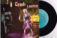 """CYNDI LAUPER - I DROVE ALL NIGHT - RARE 7"""" VINYL RECORD w PROMO PICT SLV - 1989"""