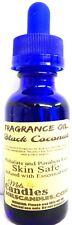 Black Coconut 1 Ounce / 29.5ml Blue Glass Dropper Bottle of Fragrance Oil Scente