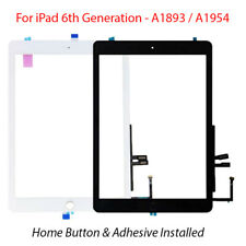 For 2018 iPad 6th Gen A1893/A1954 Touch Screen Digitizer Glass With Home Button