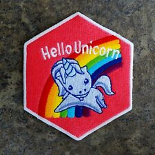 ZOMBIE HUNTER TACTICAL: ALTERED  CARBON HELLO UNICORN GITD IRON-ON PATCH~KOVACS