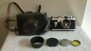 Vintage Leica Ernst Leitz Wetzlar Self Timer DBP Camera + Extras
