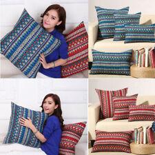 Ethnic Geometric Cushion Cover Cotton Linen Waist Throw Pillowcase Sofa Covers