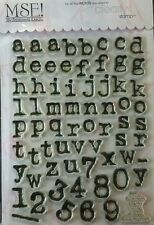 NEW MSE! My Sentiments Exactly! Clear Stamp TT228 Large Collage Lower Alphabets
